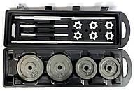 Комплект Premium - штанга + гантели металлические NEO-SPORT - 50 кг в подарочном кейсе
