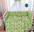 """Дитяче постільна білизна в ліжечко з балдахіном 9в1 """"Ведмедики і соти"""" - 9 предметів / Захист в манеж, фото 5"""