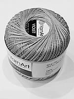 Пряжа нитки для вязания хлопковые Виолет Ярнарт Violet YarnArt 100% бавовна сірий № 5326