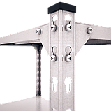 Стеллаж Комби 2400х1000х600мм, 120кг, 5 полок, металлические полки, оцинкованный для подвала, склада, архива, фото 4