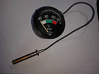 Термометр для котлов, бытовой капиллярный водяной от 0 до +120 градусов (метал. корпус, капилляр - 45 см.)