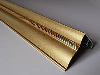 Карниз алюминиевый 2-х рядный К-52 крашеный золото, 55*53 мм (1,5 метра)