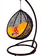 Садовое подвесное детское кресло качели кокон Kid со стойкой, подвесное кресло-шар, подвесные садовые качели