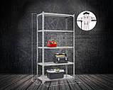 Стеллаж Комби 2400х1200х600мм, 120кг, 5 полок, металлические полки, оцинкованный для подвала, склада, архива, фото 2