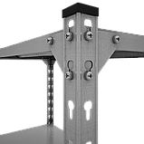 Стеллаж Комби 3120х1000х400мм, 120кг, 6 полок, металлические полки, оцинкованный для подвала, склада, архива, фото 4
