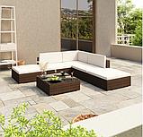 Модульний комплект садових меблів. Кутовий диван, фото 10