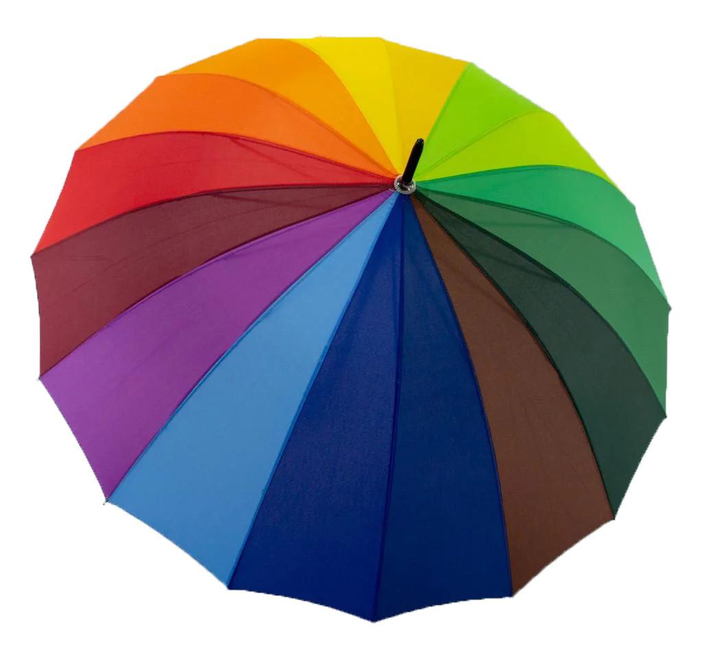 """Зонт-трость радуга от """"Feeling Rain"""", унисекс, 5501-1"""