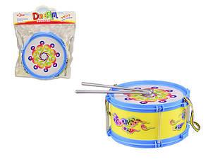 Барабан іграшковий 019 в пакеті (Синій)