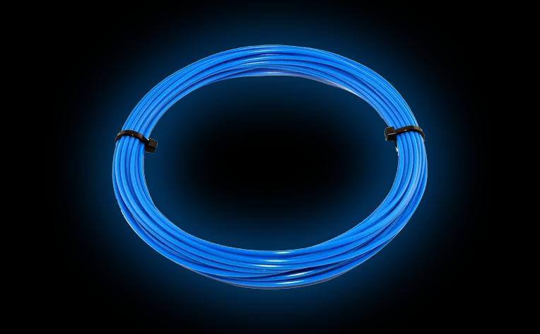 ЕКО ПЛАСТИК PLA HQ Світиться (пометрово) (Синій) HM212