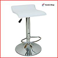 Барный стул высокий для барной стойки Кожаное барное кресло стильное без спинки для дома Bonro B-688 белый