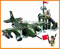 """Конструктор """"Военный самолёт"""" 255 деталей Brick-810"""
