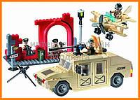 """Конструктор """"Военный Хаммер"""" 323 детали Brick-817"""