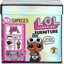 Кімната Леді-Сплюшки Ігровий набір Стильний інтер'єр з лялькою LOL Furniture Sleepover L. O. L. Surprise! 570035