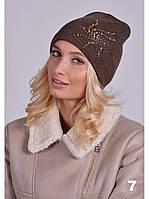 Женская весенняя шапка, шапка весна-осень, демисезонная женская шапка стильная шапка разные расцветки