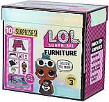 Комната Леди-Сплюшки Игровой набор Стильный интерьер с куклой LOL Furniture Sleepover L.O.L. Surprise! 570035, фото 6