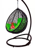 Садовое подвесное детское кресло качели кокон Kid Black, подвесное кресло яйцо, кресло-качели
