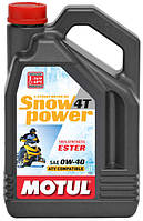 Моторное масло для снегохода MOTUL SNOWPOWER 4T SAE 0W40 (4L)