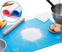 Кондитерский  силиконовый коврик для раскатки теста 65 на 45см