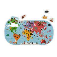 Іграшка для ванної Janod Пазл Карта світу