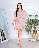 Весеннее короткое платье в мелкий цветочек из софта 4 цвета 50-661-2, фото 8