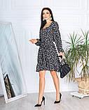 Весеннее короткое платье в мелкий цветочек из софта 4 цвета 50-661-2, фото 5