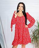 Весеннее короткое платье в мелкий цветочек из софта 4 цвета 50-661-2, фото 2