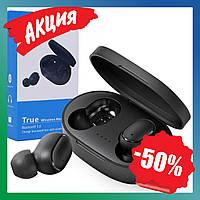 Беспроводные блютуз наушники A6S сенсорные TWS с микрофоном и кейсом Bluetooth 5.0 спортивные вкладыши
