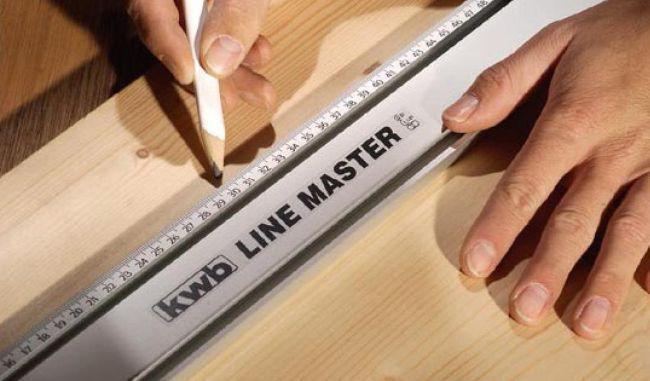 Алюмінієва лінійка прецизійна 1000 мм kwb LINE MASTER