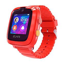 Детские смарт-часы Elari KidPhone 4G Red с GPS-трекером и видеозвонками (KP-4GR)
