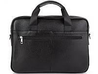 Мужская кожаная сумка для ноутбука и документов Tiding Bag MK 3328 черная, фото 3