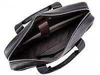 Мужская кожаная сумка для ноутбука и документов Tiding Bag MK 3328 черная, фото 4