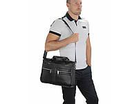 Мужская кожаная сумка для ноутбука и документов Tiding Bag MK 3328 черная, фото 6