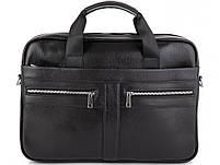 Мужская кожаная сумка для ноутбука и документов Tiding Bag MK 3328 черная, фото 2
