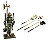Каминный набор  Рыцарь золотой, фото 2