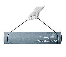 Коврик для йоги и фитнеса PowerPlay 4010 (173*61*0.6) Серый