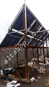 Солнечные коллектора для нагрева бассейна, отопление (частично) и ГВС. 1