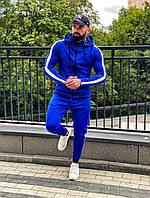 НОВИНКА!! Мужской cпортивный костюм Asos tech-diving синий с лампасами, дайвинг весна лето Турция