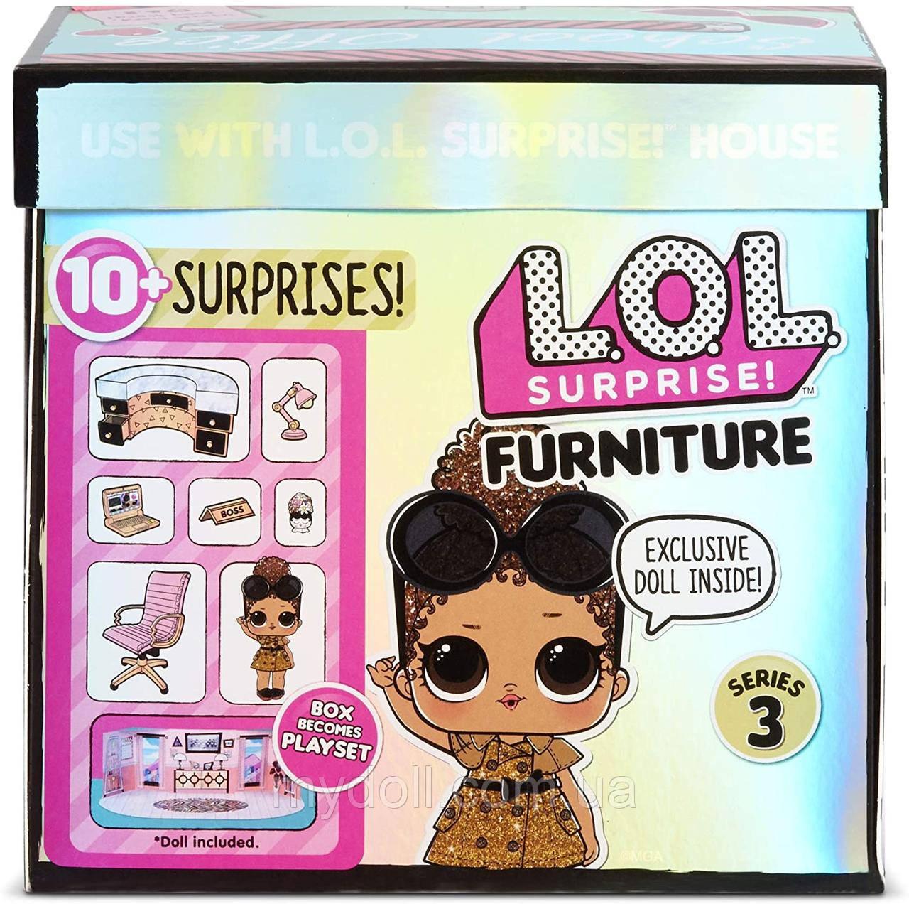 Кабінет Леді-бос Ігровий набір Стильний інтер'єр з лялькою L. O. L. Surprise! Furniture 3 серія 570042