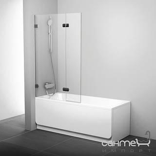 Душевые кабины, двери и шторки для ванн Ravak Шторка для ванны подвижная двухэлементная (витраж) Ravak BVS2-100 L 7ULA0A00Z1 хром/прозрачное левая