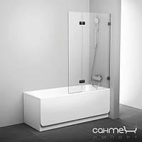 Душевые кабины, двери и шторки для ванн Ravak Шторка для ванны подвижная двухэлементная (витраж) Ravak BVS2-100 R 7UPA0A00Z1 хром/прозрачное правая