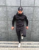 НОВИНКА!! Мужской cпортивный костюм Asos tech-diving черный с лампасами, дайвинг весна лето Турция