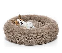 Подушка-лежак (лежанка) для собак и кошек 50 см спальные места для домашних животных цвет мокко.