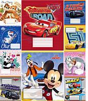 Набор тетрадей ученических 12 листов ТЕТРАДА DISNEY Микс линия картонная обложка покрытие УФ-ЛАК 10 дизайнов