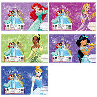Набор тетрадей ученических 18 листов ТЕТРАДА DISNEY Принцессы Диснея линия картонная обложка 5 дизайнов 20 шт