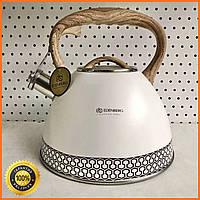 Чайник з нержавіючої сталі зі свистком 3л Edenberg EB-8809 Чайник для індукційної плити Чайник газовий