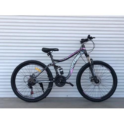 Подростковый двухподвесной велосипед 26 дюймов 17 рама Топ Райдер