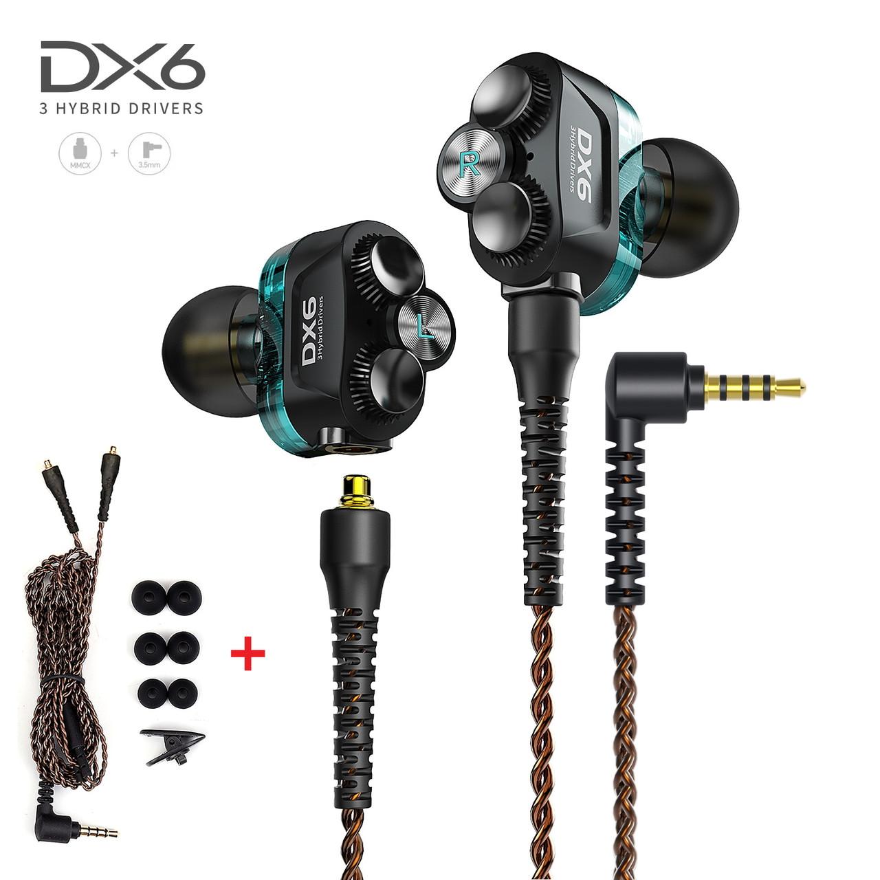Гібридні навушники 3 Hybrid Drivers з мікрофоном дротова стерео гарнітура для ПК комп'ютера телефону