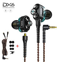 Гібридні навушники 3 Hybrid Drivers з мікрофоном дротова стерео гарнітура для ПК комп'ютера телефону, фото 1