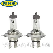 Автолампа H4 12V 60/55W P43t Halogen Headlamp Xenon Plus +30% (2шт.) Ring (Великобритания) RW872