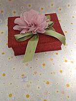 Скринька для прикрас. дер. + тканина квітка 17 * 12 * 7 см., фото 2